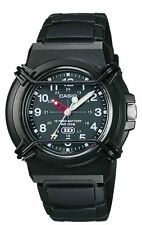 Casio Men's Analogue Resin Strap With Buckle Watch, Black