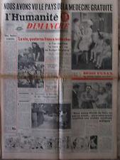 L'Humanité Dimanche (23 sept 1951) Suresnois - Cachots Château d'If - Béziers