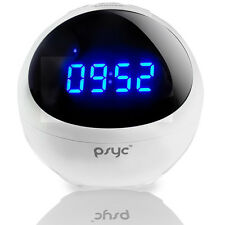 PSYC ORBIT BLUETOOTH SPEAKER WITH RADIO ALARM CLOCK - USB SD & AUX INPUT - WHITE