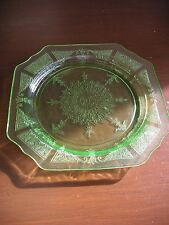 "Green Princess Depression Glass - 8 1/4"" Salad Plate - by Anchor Hocking Co."