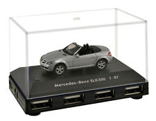 Official Mercedes Benz SLK 350 Car 4-Port USB Computer Hub - Silver