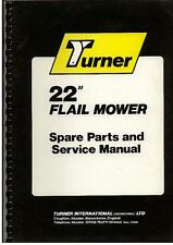 "Turner Flail Mower 22"" Service Manual with Parts List"