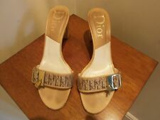 CHRISTIAN DIOR BUCKLE SLIDE SANDALS SIZE 37 UK 4