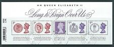 GREAT BRITAIN 2015 LONG TO REIGN OVER US MINIATURE SHEET WITH  BARCODE FINE USED