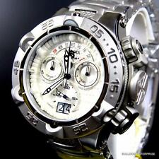 Invicta Subaqua Noma V San 5 Stainless Steel White Chronograph Swiss Watch New