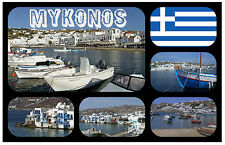 MYKONOS, GREEK ISLANDS - SOUVENIR NOVELTY FRIDGE MAGNET - BRAND NEW - GIFT