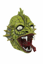 Green Dragon Máscara de Látex Scary Halloween Monstruo de pescado overhead Máscara Accesorio
