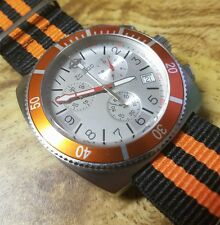 Zodiac Orange V-Sport Chronograph ZO2105  Swiss Men's Watch V-Wolf Sea Dragon