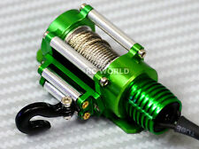 RC Scale Truck ELECTRIC WINCH W/ SWITCH Alloy Metal  Rock Crawler SCX10 GREEN