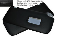 BLACK STITCH 2X SUN VISORS LEATHER COVERS FITS TOYOTA HILUX  2005-2013