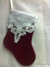 Ornament- Red Velveteen Stocking