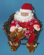 "Dillard's Unique Animated Santa Sings and moves Merry Christmas Song 18""  L@@K"