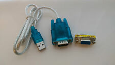 USB cable 2.0 to RS232 serial DB9 9 pin adapter CH340 + female gender changer-UK