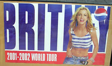 BRITNEY SPEARS 2001-2002 PEPSI PROMO WORLD TOUR POSTER LARGE & COLORFUL - NM