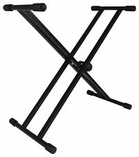 Rockville RKS-2X Double X Braced Keyboard Stand 110 LB Capacity w/Rubber Bumpers