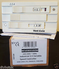 Vent Axia 2.5A Industrial Variable Speed Controller W10303102M