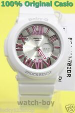 BGA-160-7B2 White Pink Casio Baby-G Ladies Watches Analog Digital Neon Brand-New