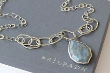 "Silpada NEW Sterling Silver Labradorite ""WILD BLUE YONDER"" Necklace N3094"