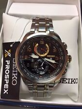 Seiko SSC508 Men's Prospex Solar World Time - New in Box