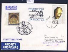 49241) AUA SF Lindbergh Wien - New York 20.5.2007, cover Rumänien