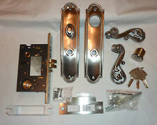 Decorlux Orleans L9009-150-RHLB Mortise Latch Entry Set SATIN NICKEL NEW in Box!
