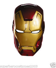 Iron Man 3 Mark 42 Adult Vacuform Mask Marvel Comics Brand New 55701