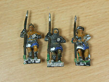 3 Classic Metal Warhammer BRETONNIAN MEN AT ARMS Pintado (3053)