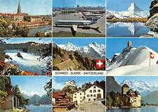 Switzerland multiviews Bern Rheinfall Tellskapelle Kloten Tarasp Chillon Airport