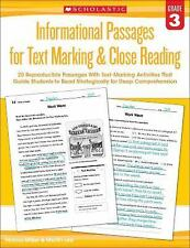 Informational Passages for Text Marking and Close Reading Ser.: Informational...