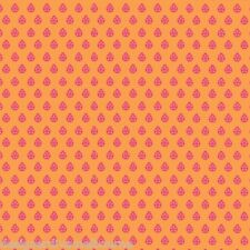 True Colors Lady Bug in Nectarine by Tula Pink, cotton quilting fabric