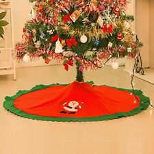 Large Christmas Xmas Tree Skirt Base Cover Decoration Red Xmas Decoration Gifts