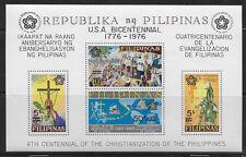 PHILIPPINES , US ,  US BICENTENNIAL , 1976 ,  SOUVENIR SHEET ,  PERF , MNH