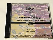 RECORDING STUDIO MASTER PROMO CD CHRISTINA AGUILERA GENIE IN A BOTTLE RADIO REMI