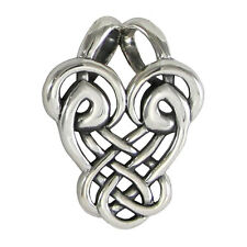 Sterling Silver Abstract Dancing Birds Celtic Love Knot Pendant Knotwork Jewelry