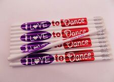 24 Personalized I LOVE TO DANCE Pencils