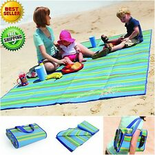 Camco Beach Mat Large Picnic Blanket Portable Basket Camping Outdoor Garden Sea