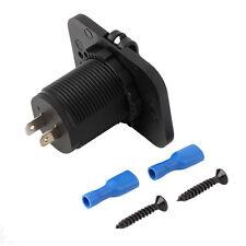 Socket Port Charger 2 USB Duel For 12V Car Boat Motorcycle Blue Light  On Sale
