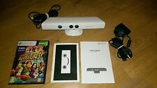 WHITE Kinect sensor BUNDLE , XBOX 360 with GAME and POWER ADAPTER, FAST DISPATCH