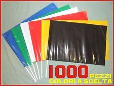 STOCK 1000 PEZZI bandiere da stadio in plastica COREOGRAFIA flags cm 60 x 40