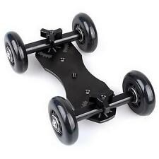 Camera-DSLR-Video-Truck-Skater-Wheel-Table-Top-Compact-Dolly-Kit-Black Colour