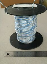 ( 500 FT ) B22C6-9U Blue/White (Twisted) Cable Wire 2 Conductor ( 22Awg ) 600V