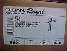 New Sloan Flushometer Royal 613 Concealed  Urinal Flush Valve 1.5 GPF -  3919040