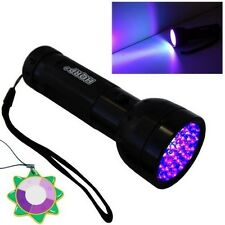 HQRP 51 LED UV 395 nM Ultra Violet Blacklight Flashlight TORCH LIGHT + UV Meter