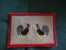 ROOSTER MINI MINIATURE RUGS FOR THE KITCHEN  in YOUR  DOLLHOUSE