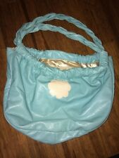 Hello Kitty Momoberry Leather Shoulder Bag Turquoise And Gold Free Shipping
