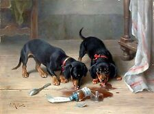 Dachshund Pair~counted cross stitch pattern #2514~Animals Dogs Nature Chart