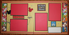 Disney 12 x 12 premade scrapbook layout -2 pg- A Dream Vacation