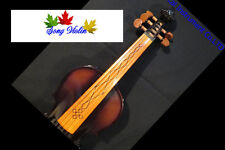 Brown colors best craft 5 strings 4/4 electric violin +Acoustic violin #8293