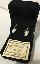 QVC Opal Marquise Earrings in a Velvet Box