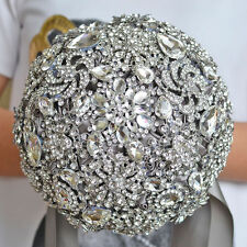 Wedding Accessories Brooch Bouquet Ivory Gray Crystal Wedding Bouquet